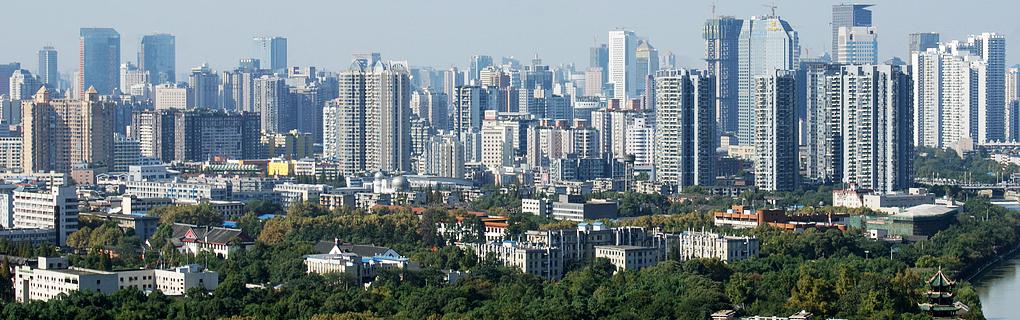 Китай — современное и развитое государство. На картинке изображён город Чэнду, 5-й по населению город Китая.